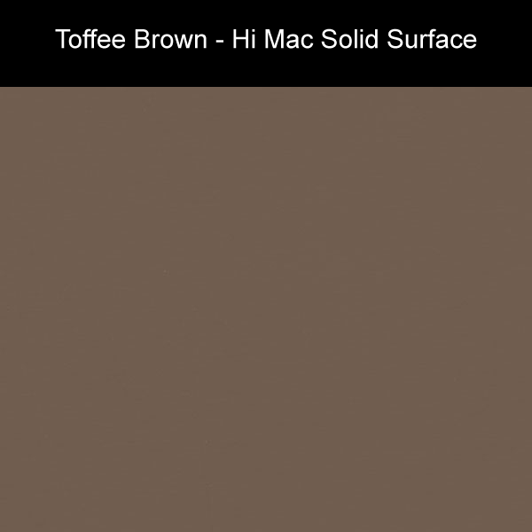 Toffee Brown | Hi Mac Solid Surface Counter Tops | Amarillo Plastic Fabricators