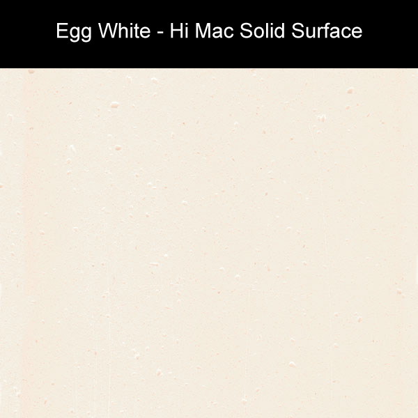 Egg White | Hi Mac Solid Surface Counter Tops | Amarillo Plastic Fabricators